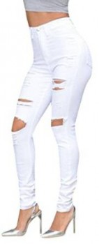 ripped white jean