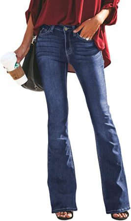 ladies flared jeans