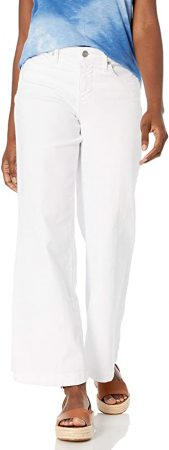 white flared trousers 2021
