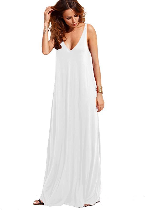 2021 white long dress