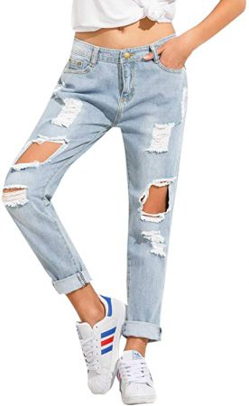 Mom Jeans Ripped